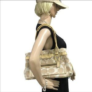 Beautiful coach shoulder bag canvas